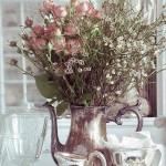 vaso prata com rosas